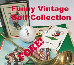 A personal favorite from my Etsy shop https://www.etsy.com/ca/listing/224471810/golf-humor-lot-golf-cartoon-playing