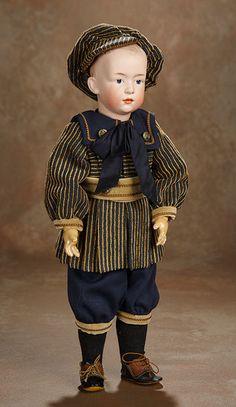 German Bisque Art Character by Gebruder Heubach Child Doll, Boy Doll, Victorian Toys, Victorian Dollhouse, Modern Dollhouse, Dream Doll, Miniature Dolls, Miniature Houses, Doll Costume