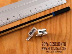 Pencil sharpener cufflinks, sterling silver. Fotos y videos de MEIRO JOYAS (@Meiro_joyas)   Twitter www.meirojoyas.com