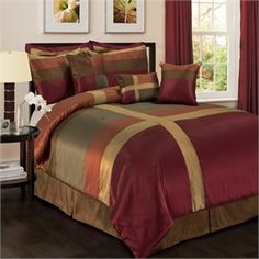 Burgundy gold on pinterest burgundy gold and pull bows for Burgundy and gold bedroom designs