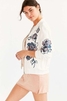 Kimchi Blue Molly Embroidered Bomber Jacket - Urban Outfitters