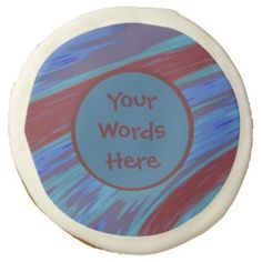 Blue red personalized sugar cookies #zazzle #gifts #cookies