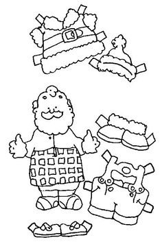 Santa paper doll plus lots of line drawing on the web site that are great.
