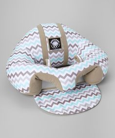 Another great find on #zulily! Blue & Gray Chevron Support Seat by Hugaboo #zulilyfinds