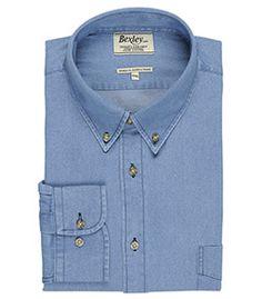 Chemises hommes denim col américain Cameron Bexley