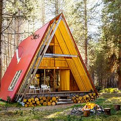 Love this A-frame. Reminds me of a Little People house I had. Far Meadow, Sierra National Forest, CA