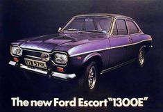 New for the Ford Escort Vinyl roof, alloy wheels, spot lamps and a whole lot of plastic wood for this top of the range model Classic Cars British, Ford Classic Cars, Classic Trucks, Escort Mk1, Ford Escort, Ford Rs, Car Ford, Retro Cars, Vintage Cars
