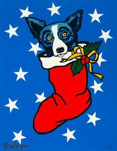 Blue Dog Christmas