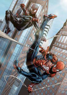 Insomniac's Spider-Men Colored by SLdraws88 on DeviantArt
