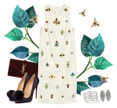 """""""Bees in my hair"""" by gabyidc ❤ liked on Polyvore featuring Yves Saint Laurent, 3.1 Phillip Lim, Christian Louboutin, Camillajames and Tiffany & Co."""