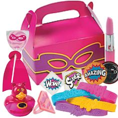 Superhero Girl Filled Lootbox Party Supplies Canada - Open A Party