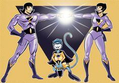 Wonder Twins Commission by Thuddleston.deviantart.com on @deviantART Old School Cartoons, Old Cartoons, Classic Cartoons, Classic Comics, Superhero Duos, Superman And Lois Lane, Wonder Twins, Dc Comics Art, Teen Titans