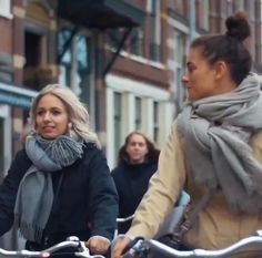 """levis-commuter: """" This april in Amsterdam, Levi's® teamed up with Pure City Cycles to invite 13 influential fashion writers, outfit them with Commuter gear, and lead a 17km ride around the city. """""""