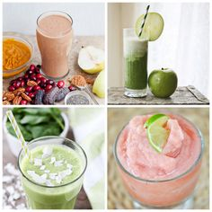 20 Nutritious Smoothie Recipes - perfect for getting more fruits and vegetables into my diet in 2014!