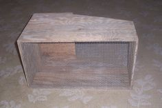 There are many types of rabbit nest boxes out there. We have tried a few with varied results and have settled on this design. Rabbit Nesting Box, Nesting Boxes, Rabbit Farm, Rabbit Colors, Nest Box, Genetics, Rabbits, Brick, Bunny