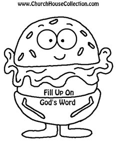 Hamburger Cutout Printable Template For Kids Sunday School Preschool kindergarten Fill Up On God's Word.png (816×1056)