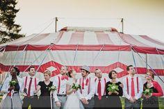 #wedding #red #circus themed wedding