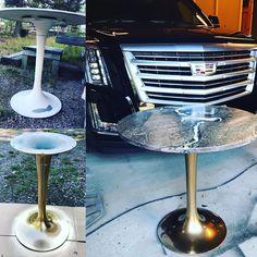 """8 tykkäystä, 2 kommenttia - Funkkistehdas (@funkkistehdas) Instagramissa: """"A fixed vintage tulip based table. #funkkistehdas #sisustus #tuliptable #vintage #retro #furniture…"""""""