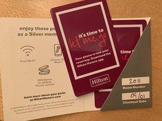 Hilton HHonors room card Hilton Hotel Room Key Card swipe