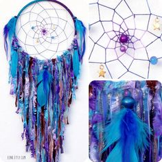 Cosmic Galaxy Large Native Style Woven Dream Catcher
