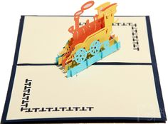 ImpressionSense - 3D Happiness Train Greeting Card