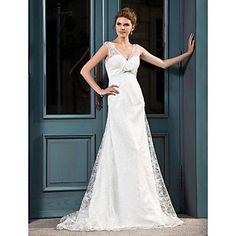 Lanting+Bride®+A-line+/+Princess+Hourglass+/+Inverted+Triangle+/+Misses+/+Pear+/+Petite+/+Plus+Sizes+/+Rectangle+/+Apple+Wedding+Dress+-++–+USD+$+169.99