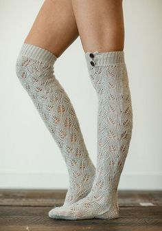 607e92b1f Gray Knitted Boot Socks
