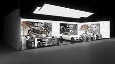 227 Autozubehör GearPro | Beeindruckender Messestand eines Herstellers von Autoteilen.   Der große Reihenstand trumpft mit vollflächig hinterleuchteten Rückwänden und harmo...