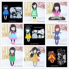 Cute Girl Metal Cutting Dies For DIY Scrapbooking Photo Album Embossing Paper Cards Making Stencil Puzzle Paper Crafts Template-in Cutting Dies from Home & Garden on Aliexpress.com | Alibaba Group