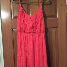 A coral colored dress A coral colored dress, a very nice dress for summer. My Michelle Dresses Midi