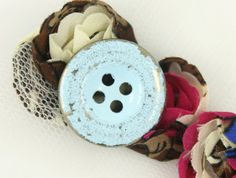 Light Blue Painting Metal Buttons  Silver Color  4 by Lyanwood, $6.00