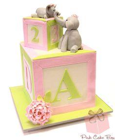 Lisa's Baby Block Shower Cake