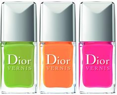 Dior Vernis 2013 Cruise Collection  Lime – green lime  Mango – sweet coral  Pasteque – bold fuchsia