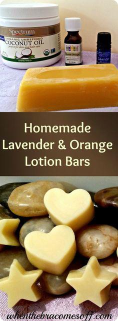 Homemade Lavender & Orange DIY Lotion Bars - Natural Beauty Living