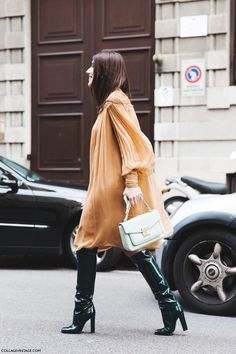 Milan_Fashion_Week-Fall_Winter_2015-Street_Style-MFW-Patricia_Manfield-Alberta_Ferreti_Dress-2