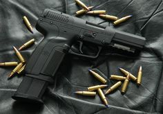 FN 'Five-seveN' - I'd choose one of these over both the 9mm and .45  www.youtube.com/c/RushGotti1320