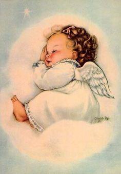 Sweet Little Angel ✺ Vintage Children's Book Illustration