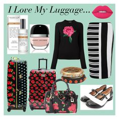 """""""I Love My Luggage"""" by karen-lynn-rigmarole ❤ liked on Polyvore featuring Theory, John Fluevog, Dolce&Gabbana, Betsey Johnson, Demeter Fragrance Library, Lime Crime, Marc Jacobs and betseyjohnsonluggage"""