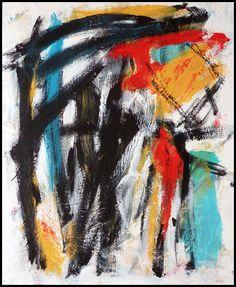 N°871 Pat Pellerin. Acrylique et crayon gras sur carton toilé 40x50 cm.