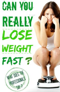 CAN YOU REALLY LOSE WEIGHT FAST ?   Healthamania