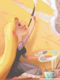 """Rapunzel concept art by Claire Keane for """"Tangled"""", 2010"""