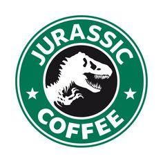 Tyrannosaurus Rex T-Rex from Jurassic Park. Tyrannosaurus Rex T-Rex from Jurassic Park. Disney Starbucks, Starbucks Logo, Starbucks Coffee, Jurassic Park Party, Jurassic Park World, Stickers Cool, Printable Stickers, Michael Crichton, Coffee Logo