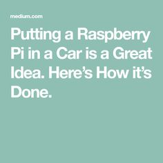 I love Raspberry Pis. My buddy introduced me to them about three years ago, around when the pi 2 came out, and I fell in love. Currently I have about 4 running some type of home network system… Computer Projects, Arduino Projects, Raspberry Pi Projects, Home Network, Rasberry Pi, Truck, Ideas, Cars, Car Stuff