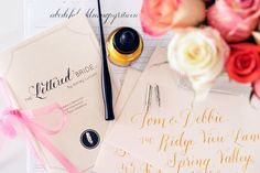 DIY calligraphy kit - http://themerrybride.org/2015/06/07/wedding-diy-supplies-and-kits/
