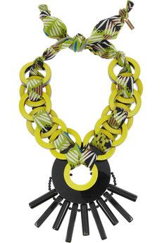 Etro Resin and printed jersey necklace | NET-A-PORTER