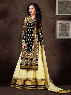 Gold Designer Salwar Suit