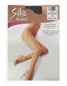 SILKS Ultra Sheer To Waist Pantyhose - HINT OF BLACK