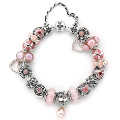 Pandora Positively Pink Bracelet- I think this is absolutely adorable but I would NEVER pay $1,070.00 for this... be real!  But I can dream......