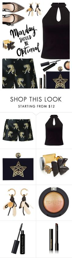 """""""Mondays should be optional"""" by juliehooper ❤ liked on Polyvore featuring Giamba, Miss Selfridge, Marni, Topshop, Natio, Hourglass Cosmetics and polyvoreeditorial"""