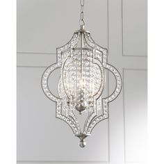 Gabrielle 3-Light Pendant ($485) ❤ liked on Polyvore featuring home, lighting, ceiling lights and silver